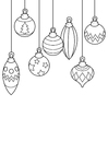 Coloring pages baubles