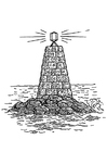 Coloring pages beacon at sea