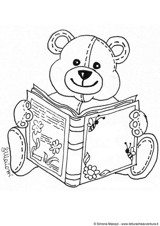 Coloring page bear