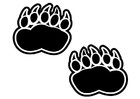 Coloring page bear footprint
