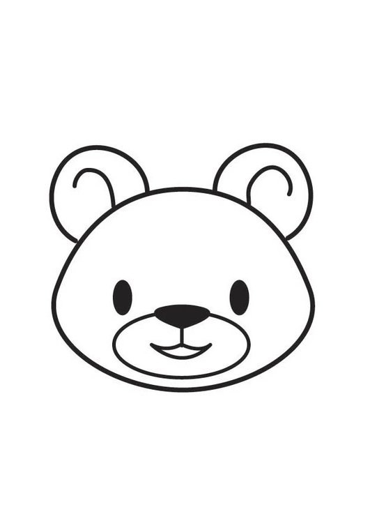 Coloring page bear head