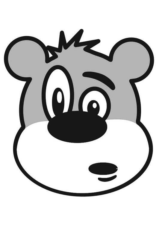 Coloring page bear's head