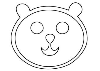 Coloring page bear 39 s head img 19398 for Bear head coloring page