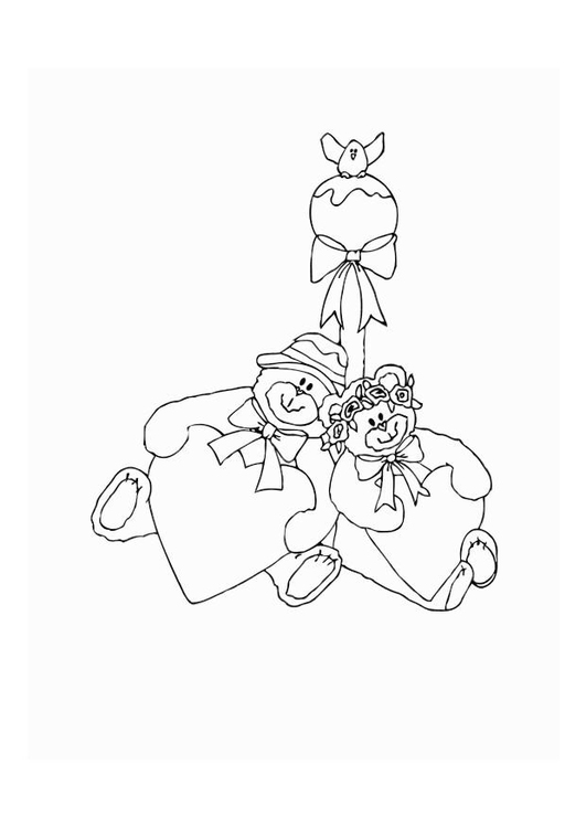 Coloring page bears