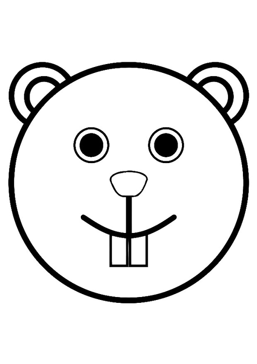 Coloring page beaver's head