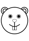 Coloring pages beaver's head