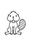 Coloring pages Beaver