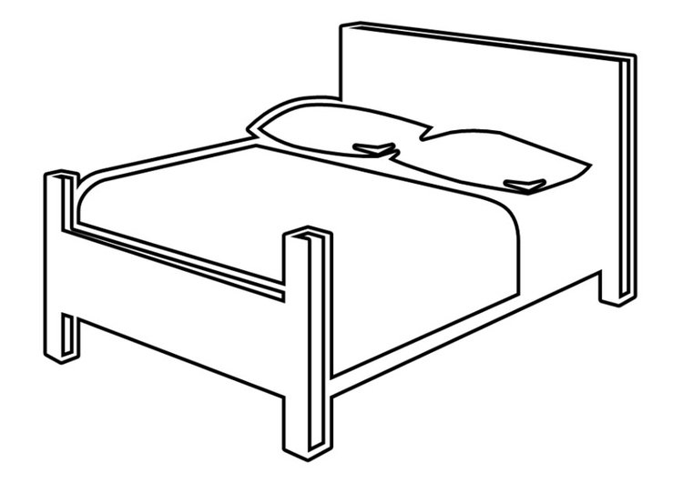 Coloring page bed