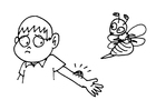 Coloring pages bee sting