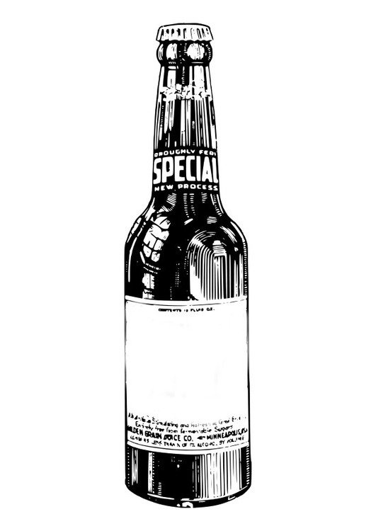 Coloring Page Beer Bottle