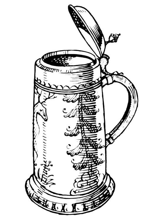 Coloring page beer jug