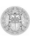 Coloring pages beetle mandala