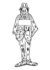 Coloring pages beggar