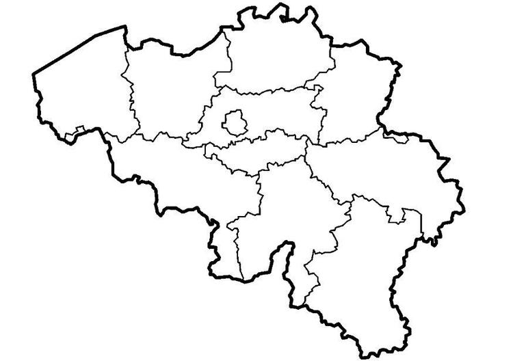 Coloring page Belgium provinces img 8298 – Belgium Provinces Map