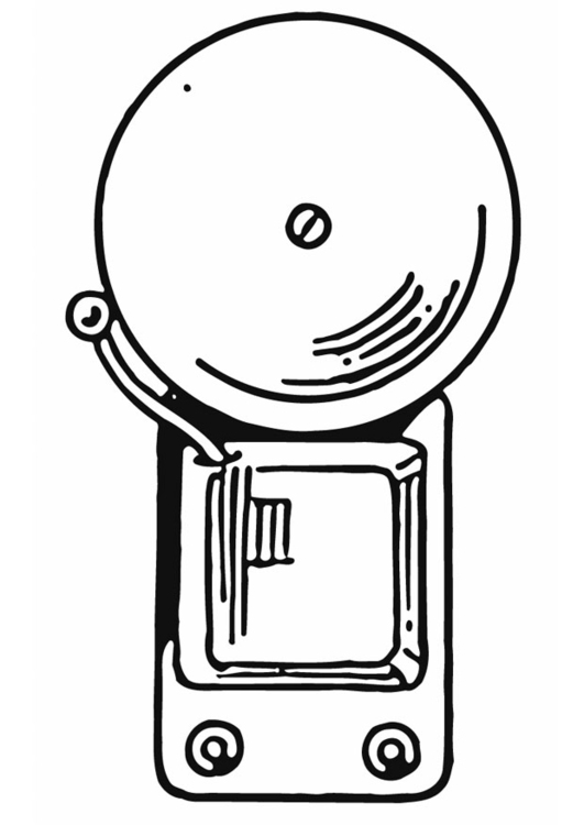 Coloring page bell