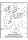 Coloring pages Bellerephon and Pegasus