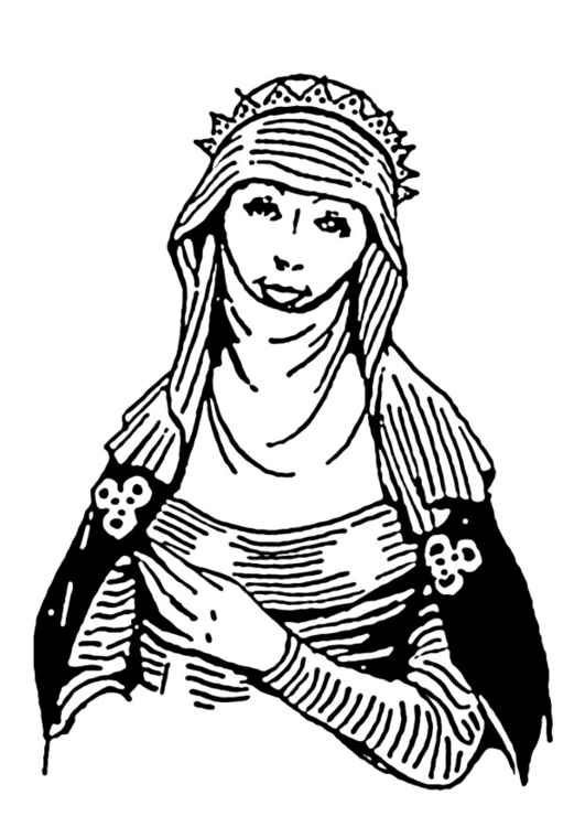 Coloring page berber woman