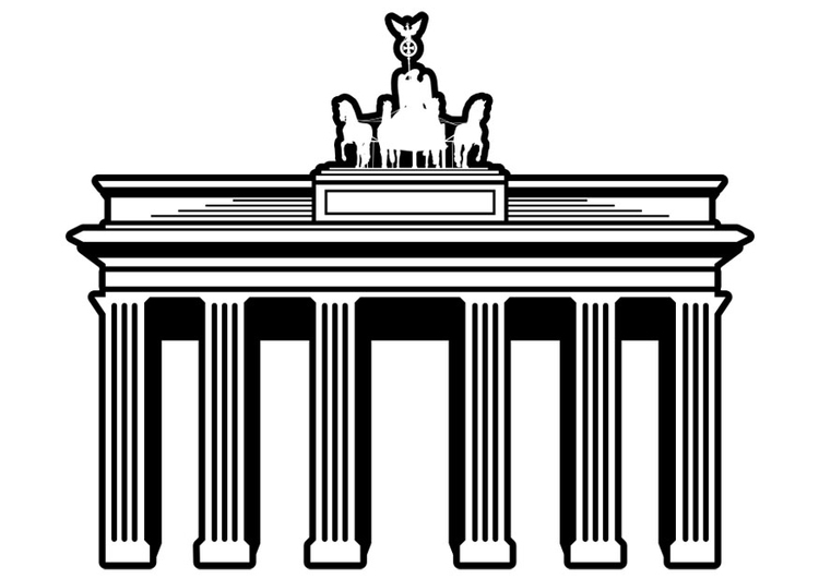 Coloring page Berlin - Brandenburg gate