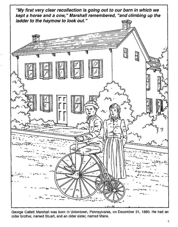Coloring page bicycle