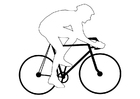 Coloring page bicycle racing