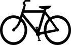 Coloring pages bicycle