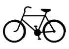 Coloring pages bicycle silouette
