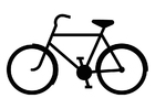 Coloring page bicycle silouette