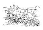 Coloring pages bicycling