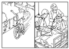 Coloring pages bike safety