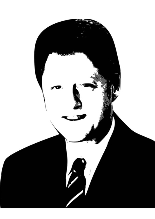 Coloring page Bill Clinton