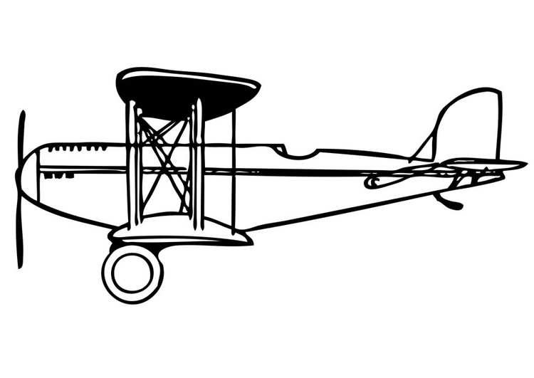 Coloring page biplane