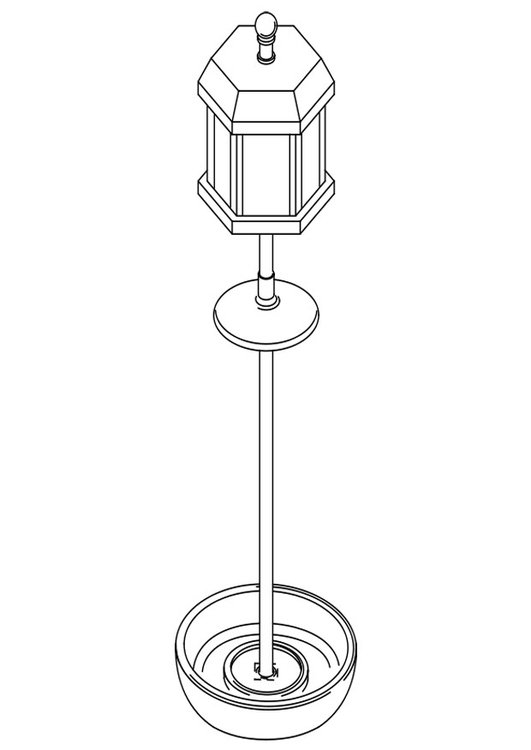 Coloring page bird feeder