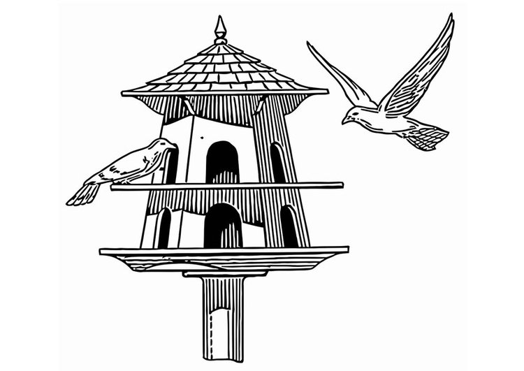 Coloring page bird feeder img 20683