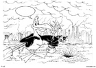 Coloring pages bird planting trees