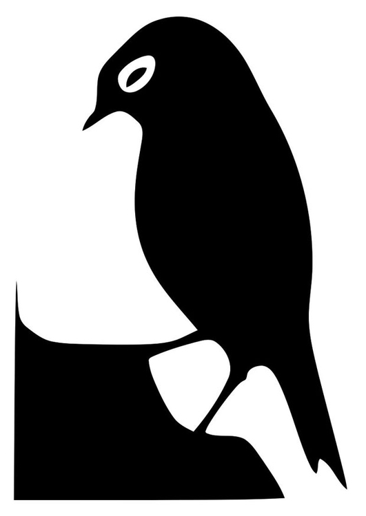Coloring page bird silhouette