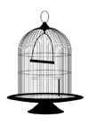 Coloring pages birdcage