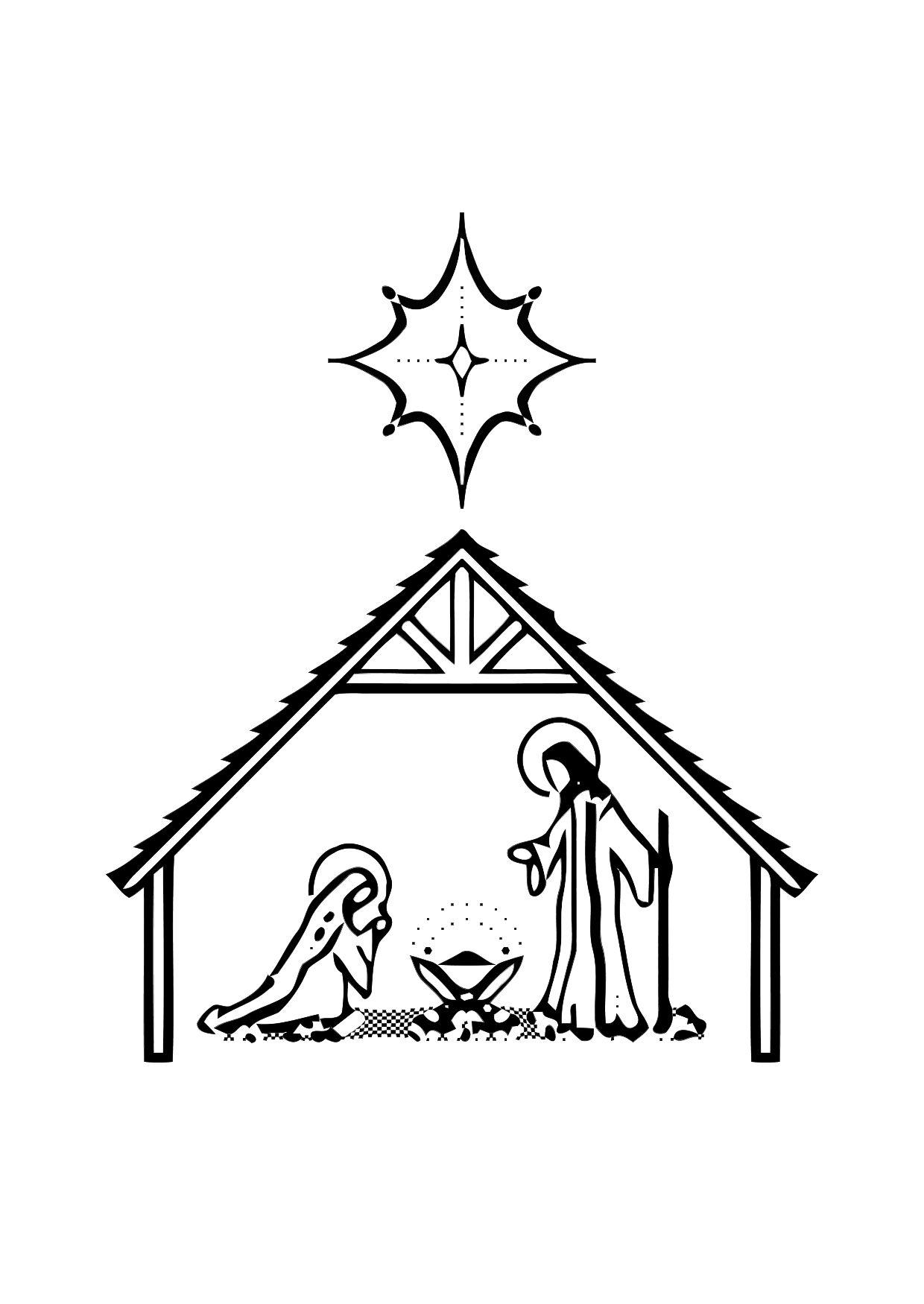 coloring page birth of jesus img 11317
