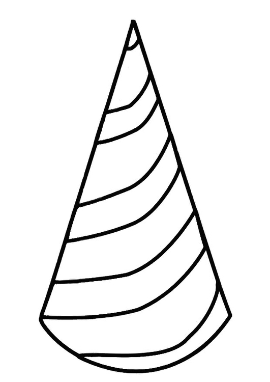 Coloring Page Birthday Hat Img 19411