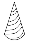 Coloring page birthday hat