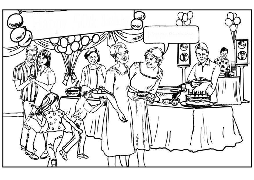 Dibujo para colorear Fiesta de cumpleaños - Img 6495  Private Party Coloring Pages