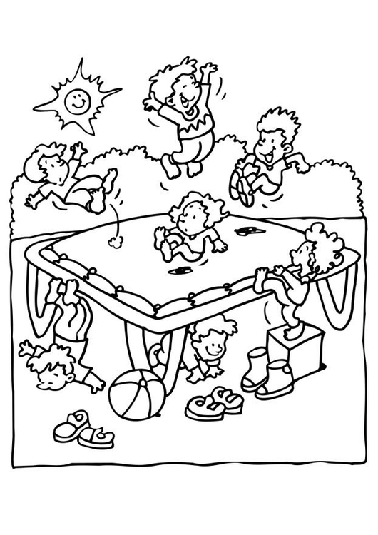 Coloring page birthday party