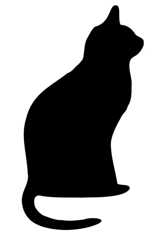 Coloring Page Black Cat Img 19740