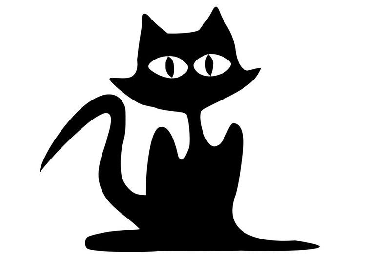 Coloring page black cat
