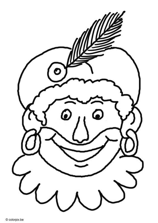 Coloring page Black Peter