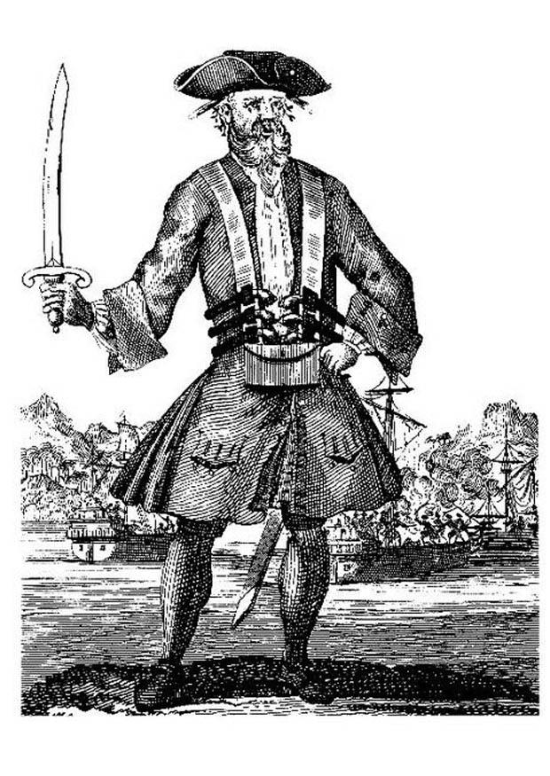 Coloring Page Blackbeard The Pirate Img 9377 Images