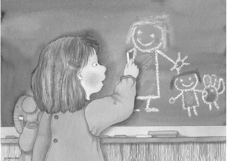 Coloring page blackboard