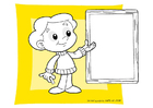 Coloring pages blackboard