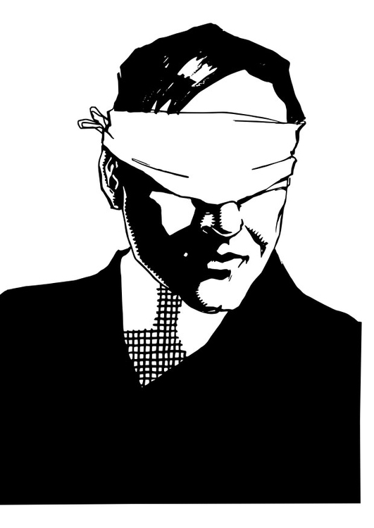 Coloring page blindfold