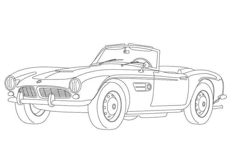 Coloring page BMW 507
