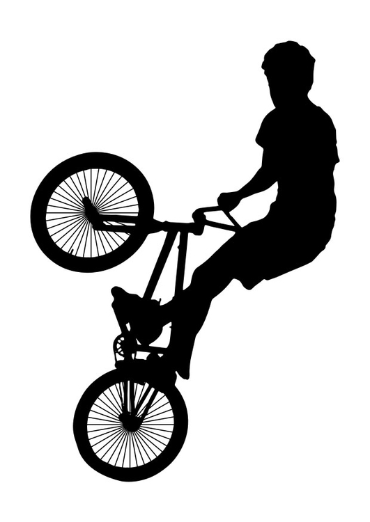 Coloring page bmx